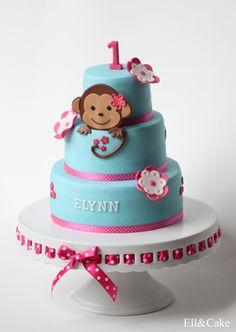 First Birthday Cake, Monkey Theme  Like to see more? www.facebook.com/ellcake