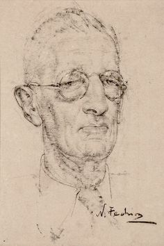 Seeking superior fine art prints of Man with Glasses by Nicolai Fechin? Portrait Sketches, Pencil Portrait, Portrait Art, Drawing Sketches, Pastel Drawing, Painting & Drawing, Nicolai Fechin, Gouache, Drawing Studies