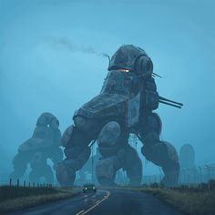 "From ""Inspirations     The Electric State: Simon Stålenhag"".  More here: Very cool concept art here:  https://buff.ly/2vbrc2n"