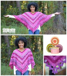 Introducing-the-Dixie-Charm-Poncho-a-free-crochet-pattern design by-elk-studio