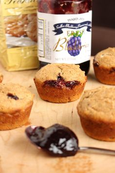 Low-Fat Vegan PB & J Muffins 2