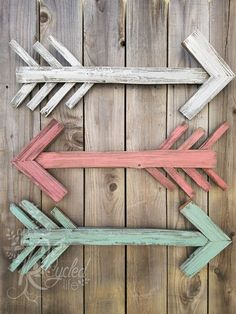 Reclaimed Wood Arrow For Nursery Room By Our Recycled Life