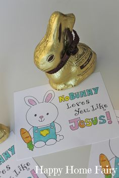 No Bunny Loves You Like Jesus - adorable free printable from happy home fairy.jpg