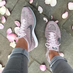 Nike Flyknit Racer Rainbow Casual Running Sport Shoes Sneakers from Saved to Things I want as gifts. Cute Shoes, Me Too Shoes, Sneaker Outfits, Nike Shoes Outfits, Gym Outfits, Pink Nike Shoes, Shoes Sneakers, Shoes Heels, Adidas Shoes
