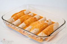 Kid friendly chicken enchiladas - my picky enchilada eaters actually ate these. very mild, bland, and perfect for kiddos.