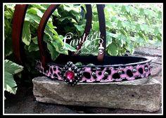Pink Leopard tie down noseband