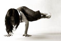 Yoga pose side crow