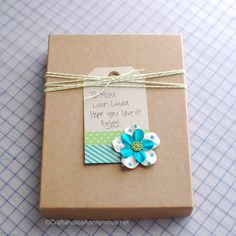 packaging idea for mother's day using washi tape and bakers twine #craft