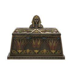 Unicorn Studios Art Deco - Egyptian Pharaoh Bust Trinket Box - Bronze, As Shown Egyptian Pharaohs, Egyptian Goddess, Ancient Egyptian Art, Egypt Art, Art Deco Diamond, Wall Sculptures, Trinket Boxes, Find Art, Boxer