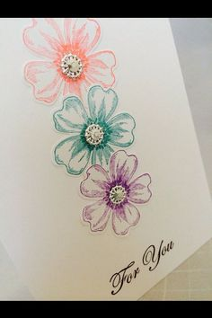 Hey, I found this really awesome Etsy listing at https://www.etsy.com/listing/187540632/stampin-up-card-kit-colorful-flower-shop