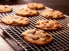 chocolate chunk cookies; ina garten -- loved these! makes a crisp/thin/chewy cookie.