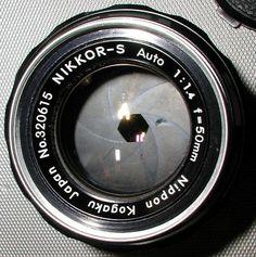 1962 Nikon Nikkor 50mm 1.4