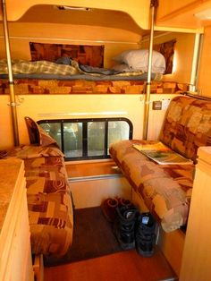 Without a bathroom or a closet it has more windows and very open feeling. Every other camper I've ever been in made me feel closed-in, almost claustrophobic.