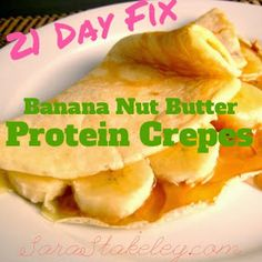 Sara Stakeley: Stuffed Protein Crepes 21 day fix Recipe. Sounds like heaven 21 Day Fix Challenge, 21 Day Fix Meal Plan, 21 Day Fix Breakfast, Breakfast Ideas, Breakfast Recipes, 21 Day Fix Recipies, Crepes Rellenos, Beachbody 21 Day Fix, 21 Day Fix Diet