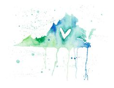 5x7 Virginia Love by poppyandpinecone on Etsy