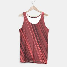 Strawberry red and black stripes tank top
