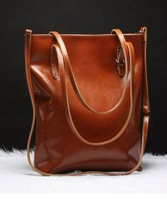 Handmade Leather tote bag shoulder bag brown black for women leather shopper Shoulder bag Clothing, Shoes & Jewelry - Women - handmade handbags & accessories - http://amzn.to/2kdX3h7