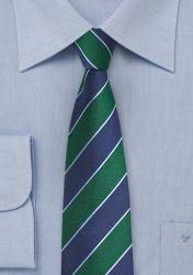 Krawatte Business-Streifen tannengrün nachtblau günstig kaufen