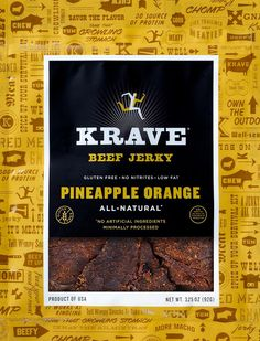 Pineapple Orange Beef Jerky - Gourmet Jerky by Krave Jerky