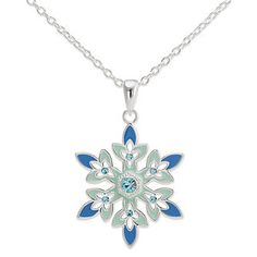 Shop Disney Girls' Frozen Snowflake Pendant (Kids)