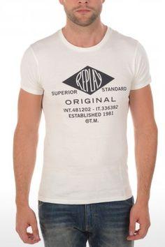 Replay t-shirt M6140S White M6140S 2660 563 White » JeansandFashion.com
