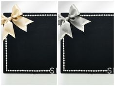 Shi  Uri | Traditional Bride Bridesmaid Box in black with a champagne or silver bow