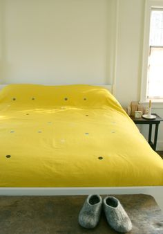 Snappy duvet cover  from www.purlbee.com