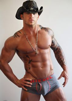 Men to be thankful for...men with v-lines and cowboy hats. #gay #hot #man #shirtless #abs #torso #shirtless #sexy #sixpack #hunk #model #muscular