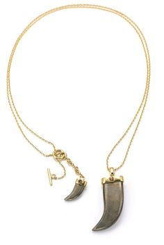 Batari Double Tooth Necklace