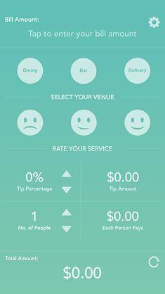 Gratuity - iPhone App UI Design Inspiration
