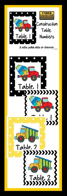Construction themed table numbers table numbers with a construction theme Head Start Classroom, Future Classroom, Classroom Themes, Construction Theme Classroom, Under Construction Theme, Preschool Themes, Preschool Lessons, Beginning Of The School Year, New School Year