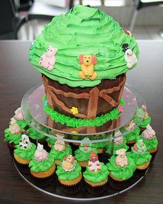 Cute Barnyard Giant Cupcake