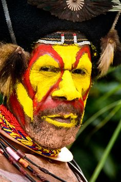 Huli Tribesman, Mt. Ambua Area, Papua New Guinea
