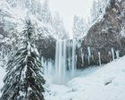Submitted by  on Reddit. Almost Frozen - Tamanawas Falls Oregon [OC] [1020 x 816]