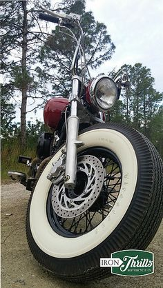 Created using a Yamaha V-star 650 and authentic pie crust Firestone Tires.
