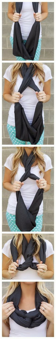 motivational trends: Different ways to tie a scarf.