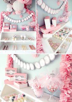 shades of pink and gray
