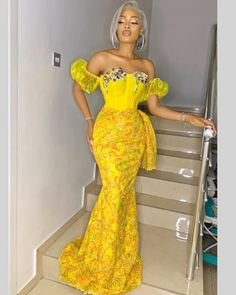26 Amazing AsoEbi Styles - Dresses For Church & Wedding Why Asoebi styles, aso ebi styles, asoebi bella styles or African dresses are prescribe Nigerian Lace Styles Dress, Lace Gown Styles, African Lace Styles, Ankara Dress Styles, African Lace Dresses, Lace Styles For Wedding, African Fashion Ankara, Latest African Fashion Dresses, African Print Fashion