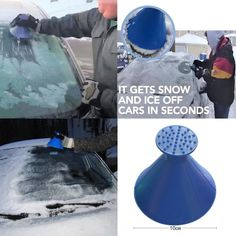 "Universe of goods - Buy ""Auto Car Magic Window Windshield Car Ice Scraper Shaped Funnel Snow Remover Deicer Cone Deicing Tool Scraping ONE Round"" for only USD. Window Cleaning Tools, Glass Cleaning, Home Snow, Washer Fluid, Ice Scraper, Car Tools, Snow And Ice, Window Cleaner, How To Remove"