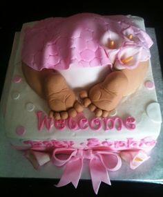 Girly baby butt cake