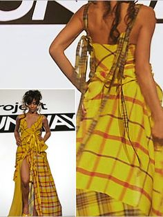 Love, love, love the yellow plaid couture dress Jeffrey Sebelia designed in season 3 of Project Runway.