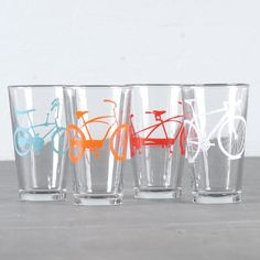 I gave these as a wedding gift but want some for my own kitchen desperately!   super bike party by vital on Etsy