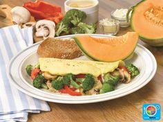 Broccoli Omelet WhatsCooking.usda.gov #veggies #protein #dairy #MyPlate