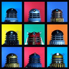 dalek brady bunch (Doctor Who) Doctor Who 10, 4th Doctor, Second Doctor, Sci Fi Models, Hello Sweetie, Don't Blink, Dalek, Torchwood, Geronimo