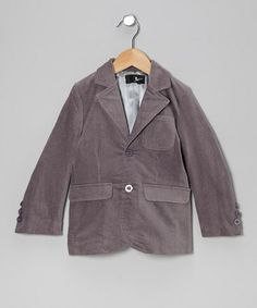 Take a look at this Gray Stretch Suede-Look Blazer - Toddler & Boys by Feathers USA on #zulily today!