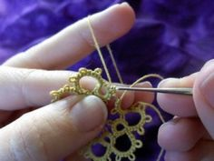 Tatting Tip - avoiding the folded join