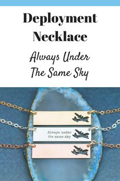I love the airplane cutout in this beautiful deployment necklace! #ad #jewelry #deployment #couples