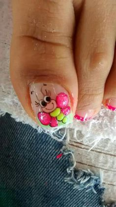 Toenail Art Designs, Fingernail Designs, Pedicure Designs, Manicure E Pedicure, Finger Nail Art, Toe Nail Art, Toe Nails, Pretty Nail Colors, Pretty Nails