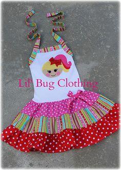 April Sunsplash Lalaloopsy Doll Girl Tiered Dress