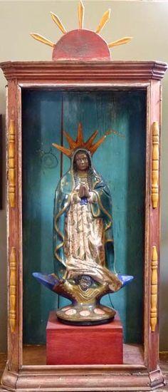 Galleria Atotonilco - Mexican Folk art, Nicho with Virgin of Guadalupe